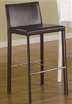 "Contemporary Brown Vinyl 29"" Bar Stool"
