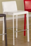 "Contemporary White Vinyl 29"" Bar Stool"
