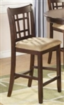 Dark Cherry Tan Seat 24 Inch Bar Stool