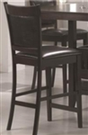 Counter Height Stool with Black Vinyl Padded Seat & Back