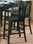 Black Counter Height Slat Back Chair