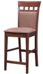 "Tan 24"" Upholstered Panel Back Bar Stool with Fabric Seat"