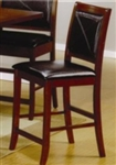 "24"" Counter Height Bar Stool with Faux Leather Back and Seat"