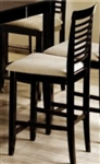 Ladder Back Bar Stool with Upholstered Seat