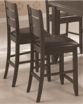 Counter Height Stool with Slat Back and Padded Seat