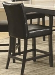 Faux Black Counter Height Stool