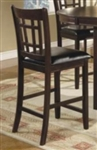 Cappuccino Black Seat 24 Inch Bar Stool