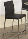 Contemporary Black Colored Upholstery Bar Stool