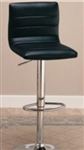 "Stylish Black 29"" Upholstered Bar Chair with Adjustable Height"