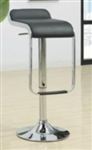 Adjustable Height Black & Chrome Bar Stool