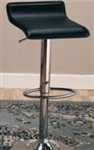 "Black Faux Leather 29"" Upholstered Bar Chair with Adjustable Height"