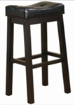 "Black Faux Leather 29"" Upholstered Seat Bar Stool"