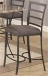 Metal Counter Height Pub Stool with Fabric Seat