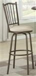 Metal Slat Back Adjustable Bar Stool/Counter Stool