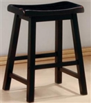 "Black Finish 24"" Wooden Bar Stool"