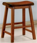 "Honey Oak Finish 24"" Wooden Bar Stool"