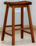 "Oak Finish 29"" Wooden Bar Stool"