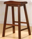 "Scooped Seat 29"" Wooden Bar Stool"
