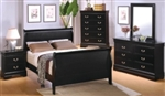 5 Piece Queen, King, or California King Sleigh Panel Bed Set