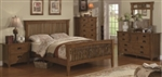5 Piece Queen, King, or California King Wood Slatted Headboard & Footboard Bed Set