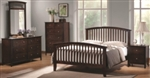 5 Piece Queen Headboard & Footboard Bed with Tapered Legs