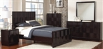 4 Piece Queen, King or California King Bed Set with Wave Moulding