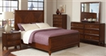5 Piece Queen or King Bed with Double X-Design on Headboard