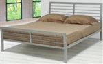 2 Piece Queen Modern Rectangular Iron Headboard & Footboard Bed Set