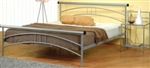 2 Piece Queen Iron Headboard & Footboard Bed Set