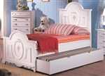 High Quality Youth Panel Bed with Trundle
