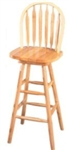 "Natural 29"" Arrow Back Windsor Swivel Bar Stool"
