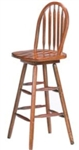 Wood Arrow Back Bar Stool