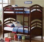 High Quality Kids Twin Over Twin Bunk Bed w/ Ladder