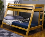 Brand New Twin Over Full Bunk Bed with Built-In Ladder