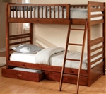 Brand New Childrens Twin over Twin Bunk Bed with Under-Bed Storage