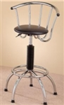 Modern Adjustable Chrome Plated Bar Stool