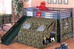 Brand New Childrens Loft Bed with Toy Chest, Slide and Tent