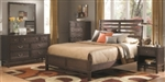 5 Piece Queen, King, or California King Traditional Bed Set with Finials