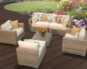 Royal Bahamas 6 Piece Outdoor Wicker Patio Sofa Set