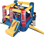 Banzai Jump 'N Go Obstacle Course Inflatable Bouncer Bouncy House