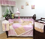 Boutique Chole Silky Baby Pink 10Pcs Crib Bedding Set