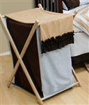 Manhattan Blue Wooden Clothes Hamper Storage