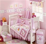 Pink Animal Crackers 6Pcs Baby Crib Bedding