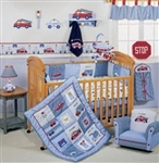 Precious Cargo 6 Piece Crib Bedding Set- CARS