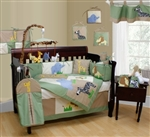 Animal Kingdom Embroidered 12 Pcs Baby Crib Bedding