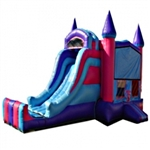 Commercial Grade Inflatable 3in1 Princess Castle Slide Combo Bouncy House