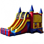 Commercial Grade Inflatable 3in1 Double Lane Slide Combo Bouncy House