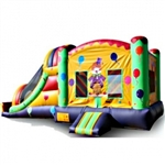 Commercial Grade Inflatable 3in1 Clown Slide Combo Bouncy House