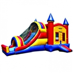 Commercial Grade Inflatable 3in1 Castle Slide Combo Bouncy House