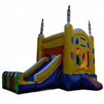 Commercial Grade Inflatable Birthday Castle 2in1 Combo Bouncy House